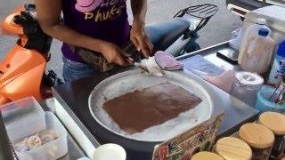 тайское самодельное мороженное ice cream roll