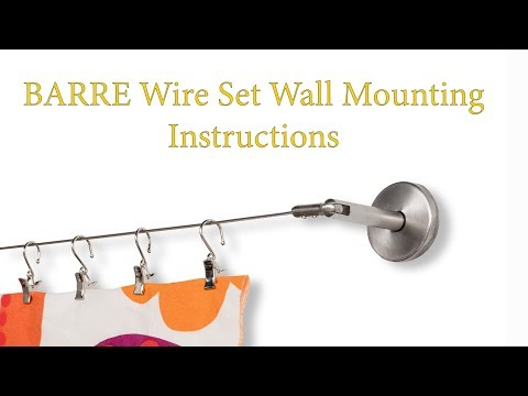 dignitet curtain wire hanging system