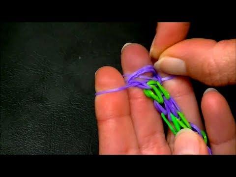 Плетение резинок двойной браслет
