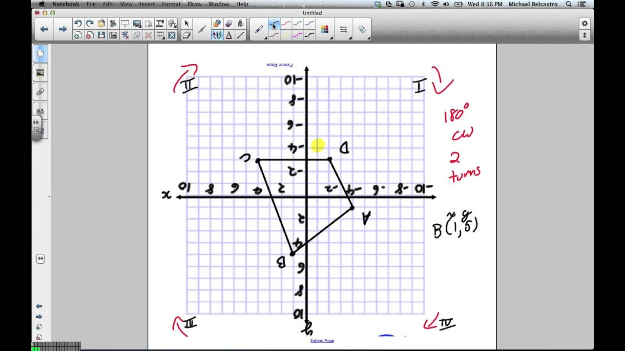 hight resolution of Rotations Grade 8 Nelson Lesson 7 3 1 23 13 - YouTube