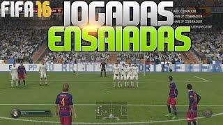 FIFA 16 - COMO FAZER JOGADAS ENSAIADAS EM COBRANÇAS DE FALTA E ESCANTEIO!