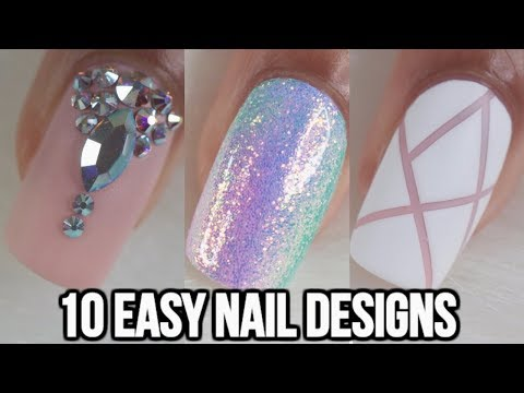 10 EASY NAIL IDEAS! NAIL ART COMPILATION- Part 2