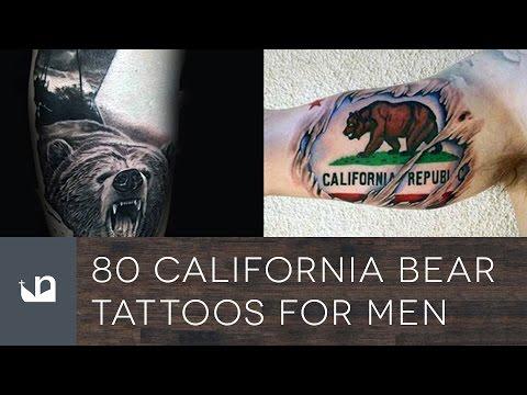80 California Bear Tattoos For Men