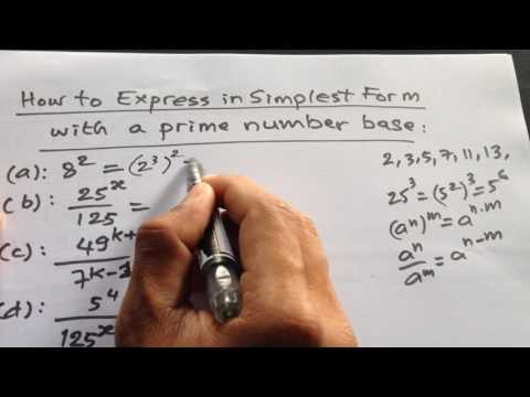 simplest form with a prime number base  Video #5) How to Express in simplest form with a prime ...