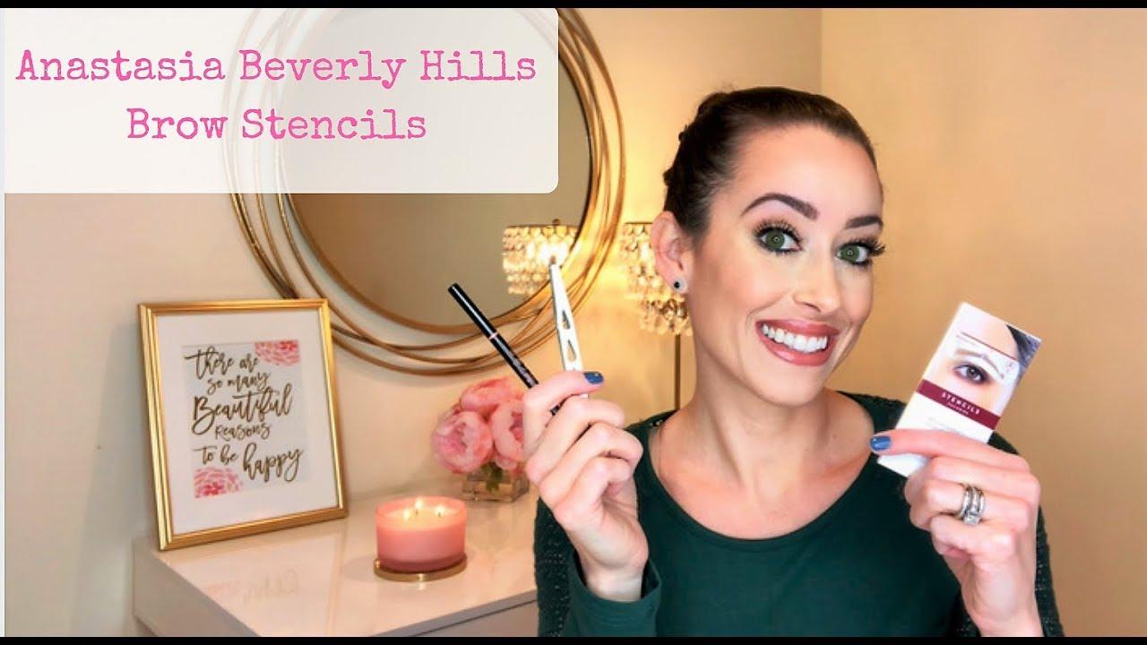Eyebrow Tutorial Anastasia Beverly Hills Brow Stencils Youtube