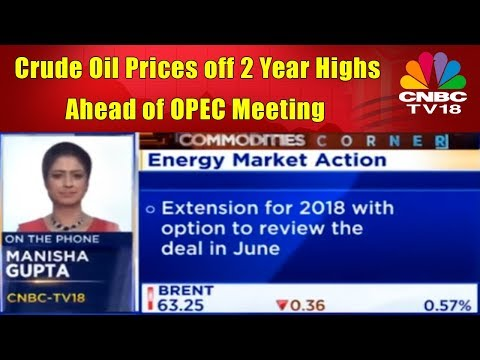 Crude Oil Prices off 2 Year Highs Ahead of OPEC Meeting | CNBC TV18