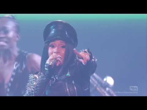 Cardi B & G Eazy - No Limit, Finesse & Bodak Yellow (2018 iHeartRadio Music Awards) HD