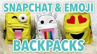 DIY Snapchat & Emoji Backpacks - HGTV Handmade