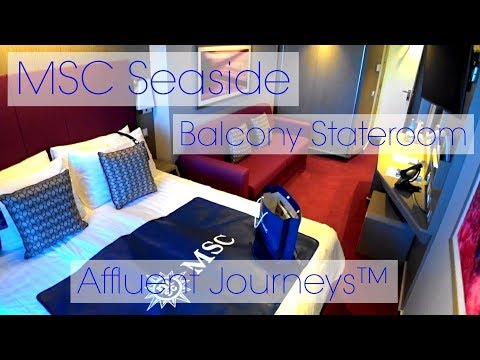 MSC Seaside Balcony Stateroom Tour