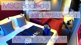 MSC Seaside Balcony Stateroom Tour