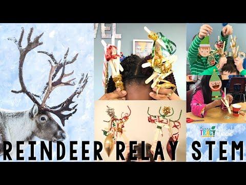 Christmas Stem Challenges.Winter Christmas Stem Challenge Reindeer Relay 2 Of 5