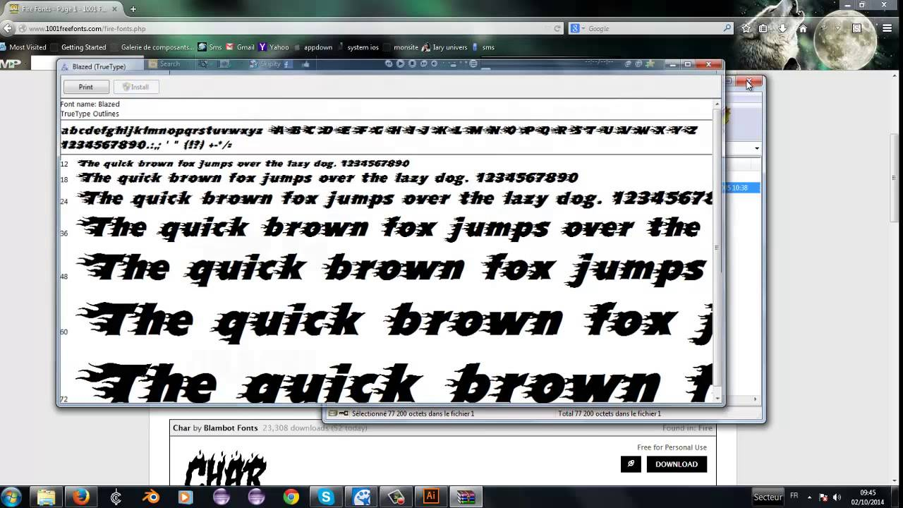 instal a new fonts in windows and use on adobe illustrator CC
