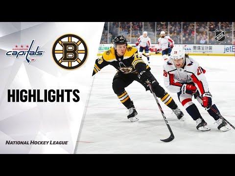 NHL Highlights   Capitals @ Bruins 12/23/19