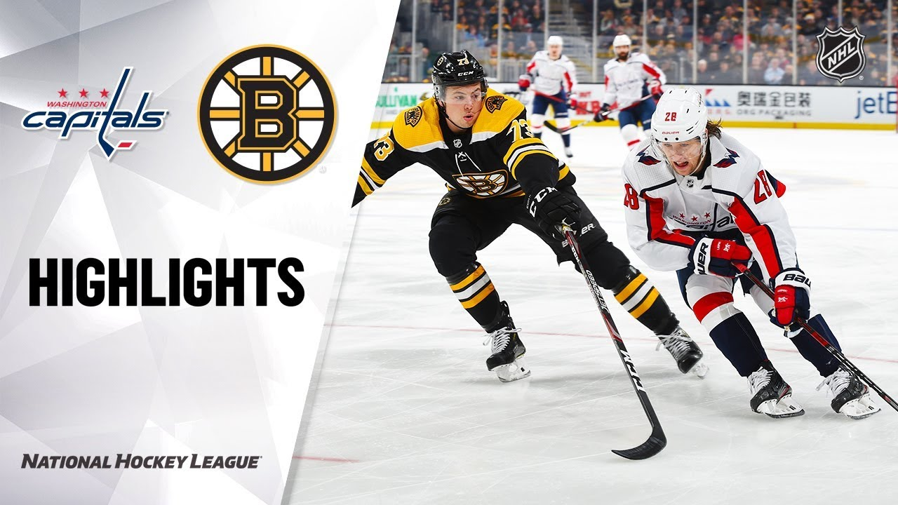 NHL Highlights | Capitals @ Bruins 12/23/19