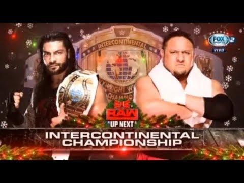 Roman Reigns vs Samoa Joe - Intercontinental Championship Match : RAW - FOX SPORT - PT BR thumbnail