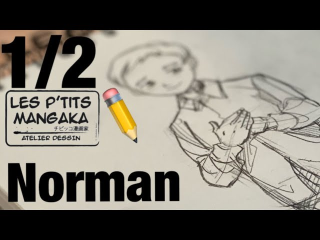 Les p'tits mangaka X Norman - The Promised Neverland - [Drawing Clip] 1/2