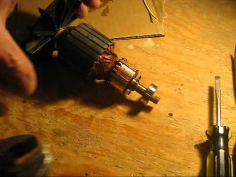 Electric motor Armature repair.mpg