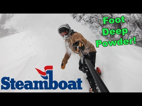 Snowboarding Powder At Steamboat Colorado - (Season 3, Day 35)