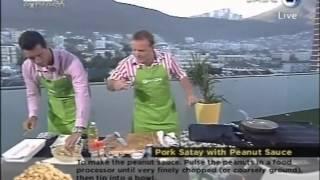 Pork Satay With Peanut Sauce Chef Tjaart (2.02.2012)