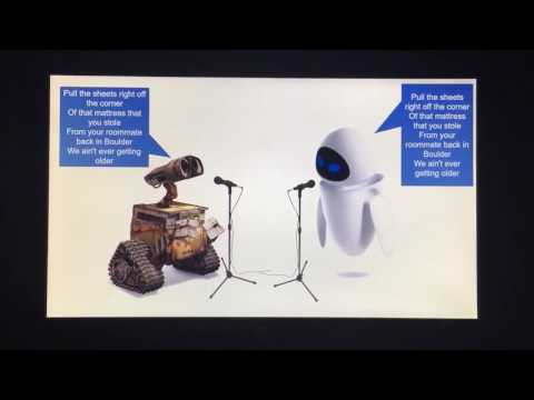 WALL-E & EVE Sing
