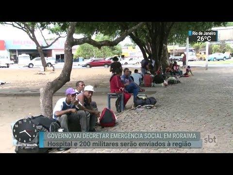 Presidente Michel Temer decretará situação de emergência em Roraima   SBT Brasil (14/02/18)