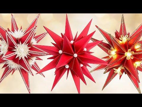 ideen mit herz anleitung faltstern star julietta weihnachtsdeko basteln origami stern. Black Bedroom Furniture Sets. Home Design Ideas
