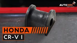 Sway bar bushes installation HONDA CR-V: video manual