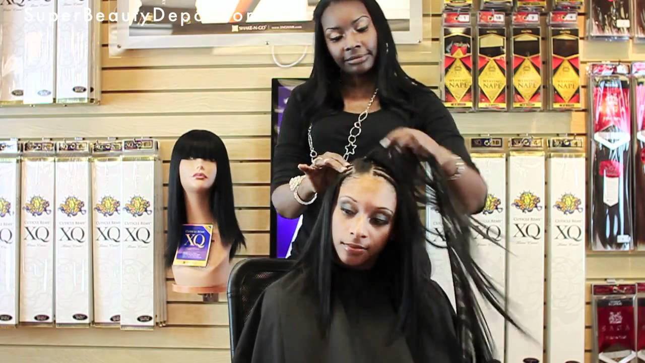 Full Weave Sew In And Curling Milkyway Xq Youtube