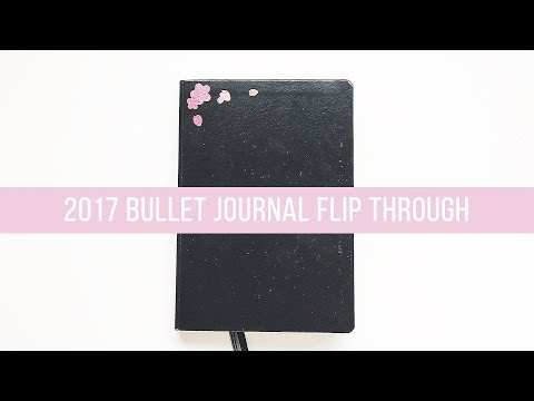 kpop bullet journal | 2017 flip through