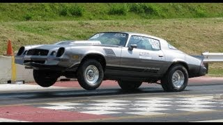 CAMARO WHEELIES!!  10 SECOND DRAG RACING