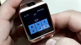 Як налаштувати мову Smart Watch DZ09. Як налаштувати підсвічування. Як налаштувати шпалери смарт годинник DZ09