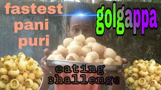 fastest pani puri eating challenge