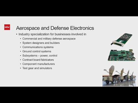 ERP for Aerospace and Defense Electronics - Microvertical Specialty - Godlan
