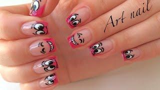 Смайлики На Ногтях!  Маникюр Со Смайликами!  smile manicure!  Nail Art Designs(Летний маникюр со смайликами! Для покрытия Вам надо: базовый шеллак (гель-лак) CND финишный шеллак (гель-лак)..., 2016-07-19T10:41:47.000Z)
