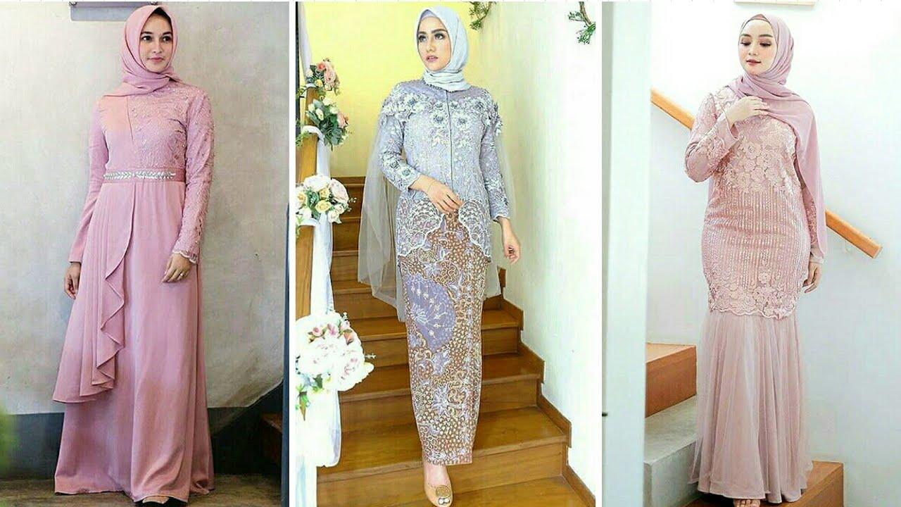12 Model Baju Gamis dan Kebaya Brokat Pesta Muslim Modern 1219/1212