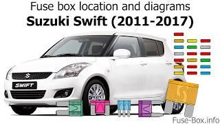Fuse box location and diagrams: Suzuki Swift (2011-2017) - YouTubeYouTube