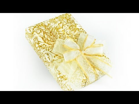 Wrapping a wedding gift