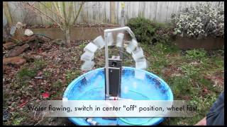 School Science Fair Electricity Generating Waterwheel