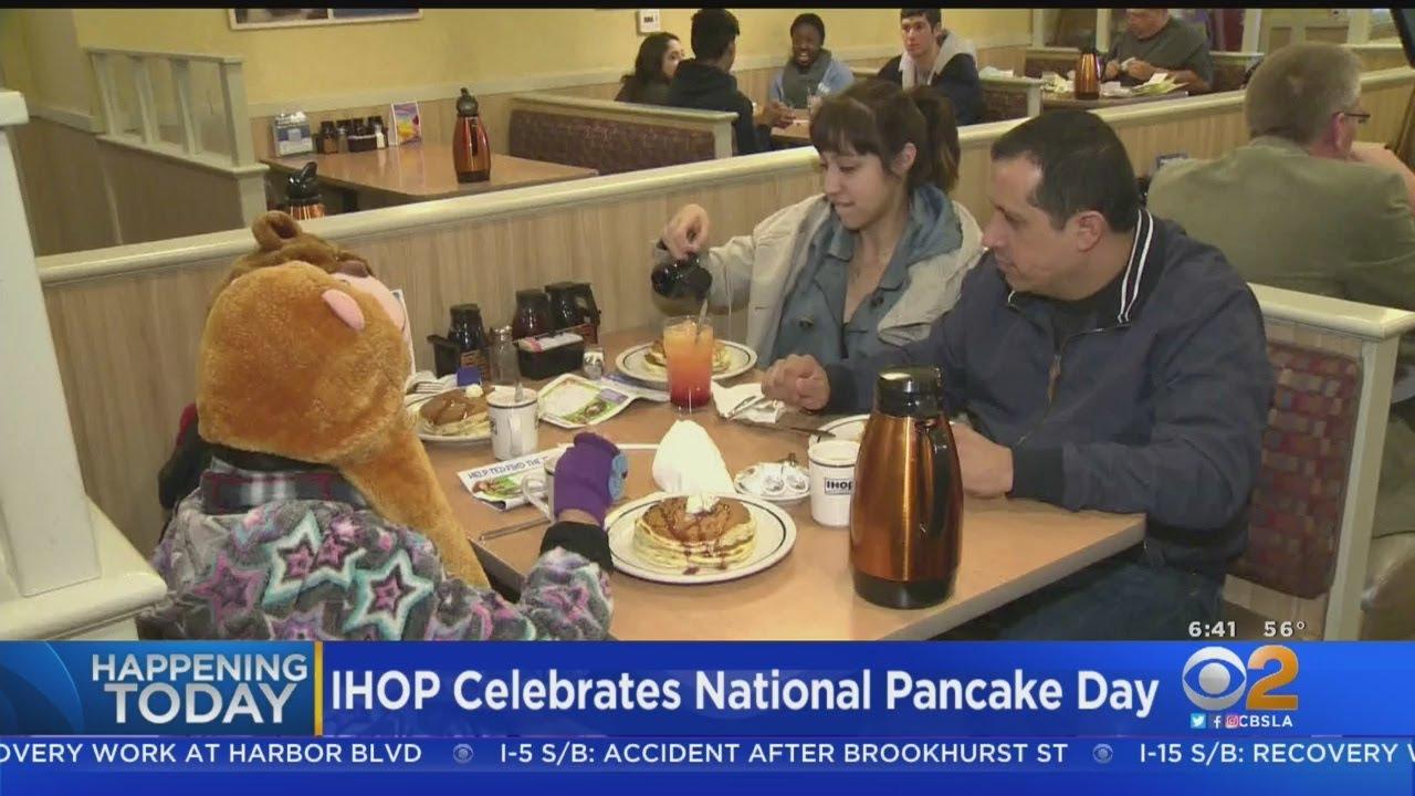 It's free pancake day at IHOP