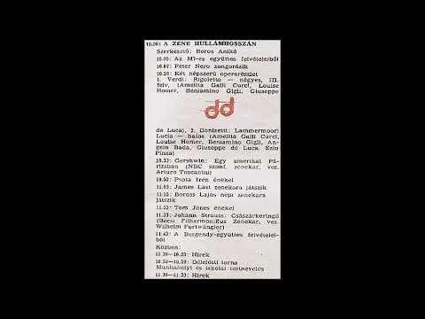 A zene hullámhosszán. Újratöltve. Szerkesztő: Boros Anikó. 1977.03.03. Petőfi rádió. 10.00-11.55.