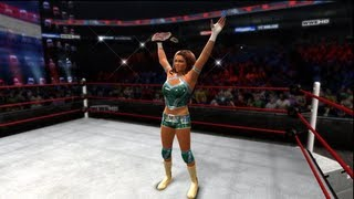 WWE TLC 2012 Eve vs Naomi Divas Championship match Result (WWE 13)