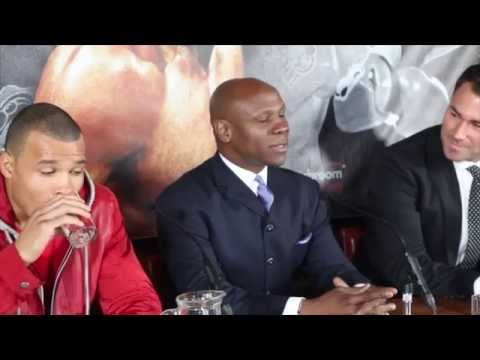 CHRIS EUBANK JR SIGNS WITH EDDIE HEARN/ MATCHROOM & TO BE TRAINED BY ADAM BOOTH - PRESS CONFERENCE