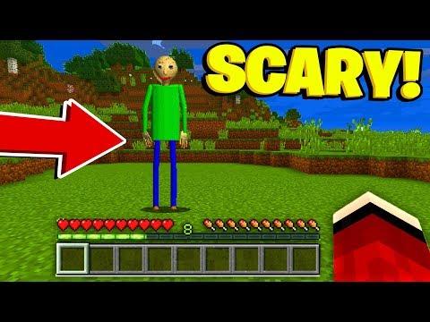 BALDIS BASICS In Minecraft Pocket Edition! (Scary Minecraft Video)