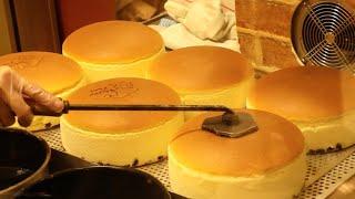 Japanese Street Food - JIGGLY CHEESECAKE Uncle Rikuro Cheese Cake Osaka Japan