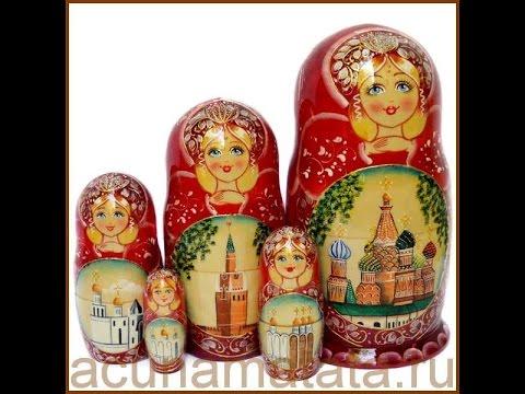 Русские матрешки - сувениры своими руками.