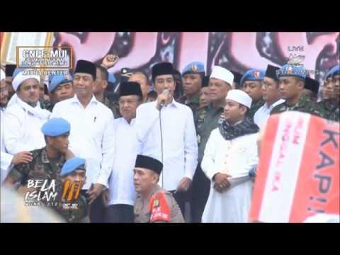 Pidato Presiden Dalam AKSI BELA ISLAM 3, 212