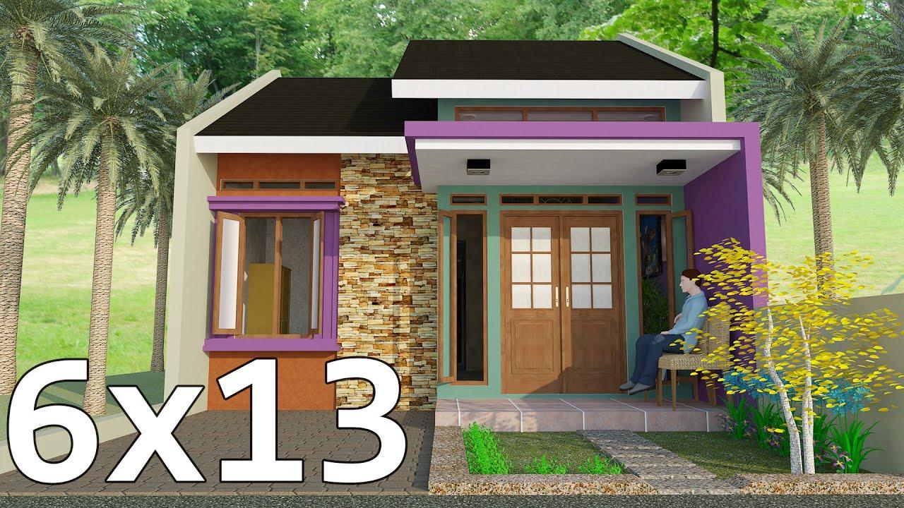 Desain Rumah 6x10 di Lahan 6x15 | 1 Lantai | 3 Kamar Tidur ...