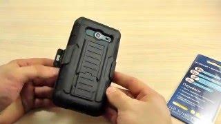 ОБЗОР: Противоударный Чехол-Накладка для Samsung Galaxy Core 2 Duos SM-G355H/DS с Креплением на Пояс