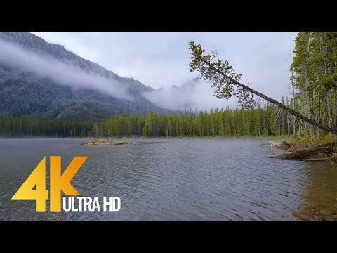4 Hours of Lake Relaxation Scenery in 4K Ultra HD | Snow Lakes, Enchantments area -