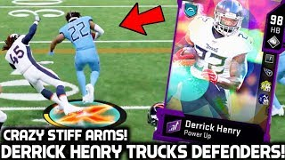 DERRICK HENRY TRUCKS ENTIRE TEAMS! GREATEST STIFF ARMS! Madden 20 Ultimate Team